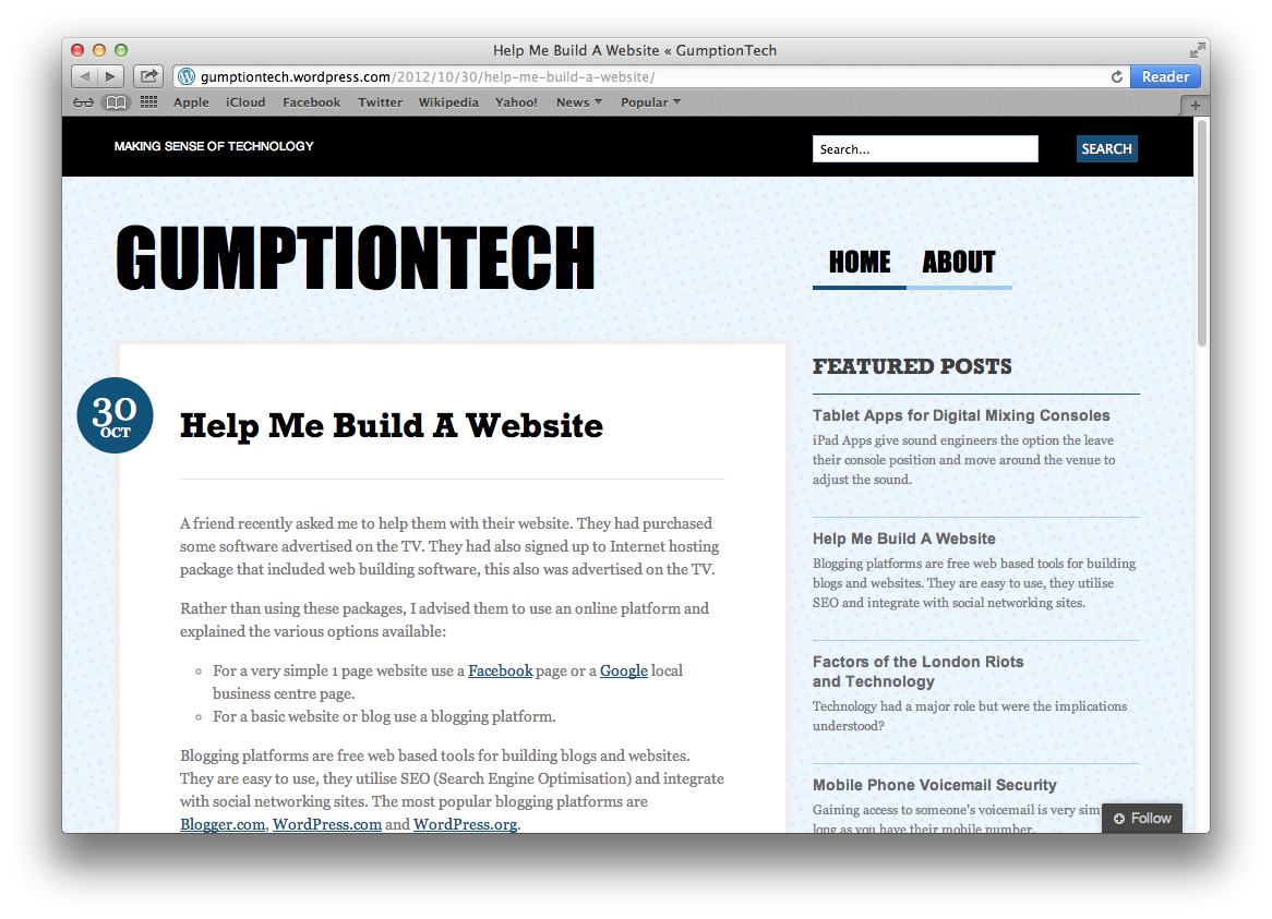 help me build a website gumptiontech
